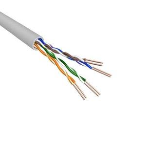 Cat.6 U/UTP Kabel Soepel AWG24 LSZH Licht Grijs 500m 100% koper