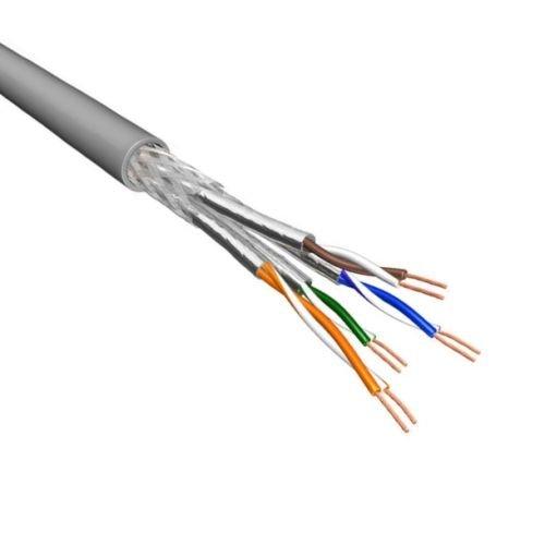 Cat.6 S/FTP Kabel Soepel AWG26 LSZH Grijs 500m 100% koper