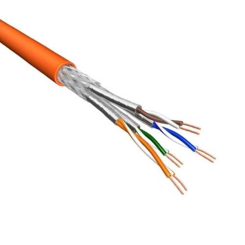 Cat.6 S/FTP Kabel Soepel AWG26 LSZH Oranje 500m 100% koper