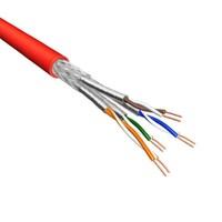 Cat.6A S/FTP Kabel Soepel AWG26 LSZH Rood 500m 100% koper