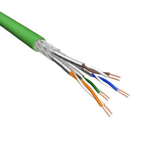Cat.6A S/FTP Kabel Soepel AWG26 LSZH Groen 500m 100% koper