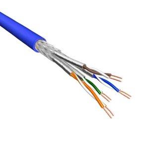 Cat.6A S/FTP Kabel Soepel AWG26 LSZH Blauw 500m 100% koper