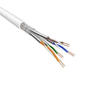Cat.6A S/FTP Kabel Soepel AWG26 LSZH Wit 500m 100% koper
