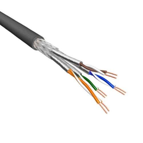 Cat.6A S/FTP Kabel Soepel AWG26 LSZH Zwart 500m 100% koper