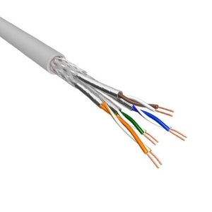 Cat.6A S/FTP Kabel Soepel AWG26 LSZH Licht Grijs 500m 100% koper