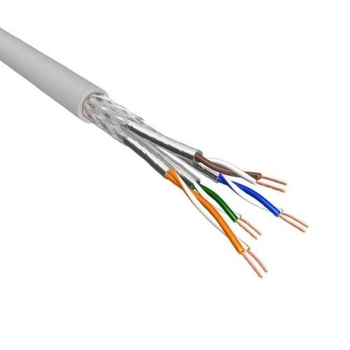 Cat.6A S/FTP Soepel AWG26 LSZH Licht Grijs 500m 100% koper (netwerkkabel op rol)