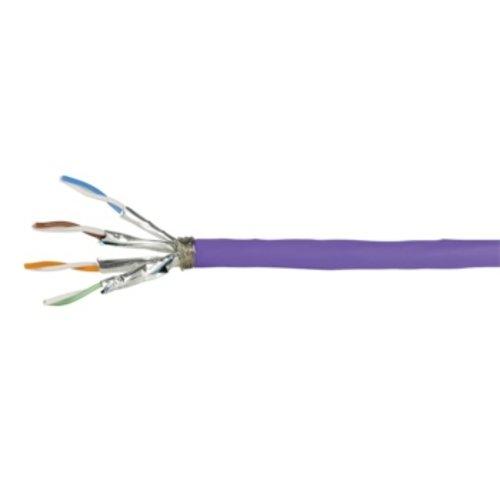 S/FTP CAT7a 1200MHz stug 100M 100% koper LSZH paars (netwerkkabel op rol)