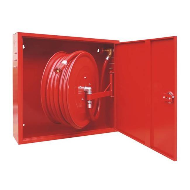 """Protectionincendieshop Armoire pour lance d'incendie avec lance d'incendie pivotante automatique et tuyau d'incendie 1"""""""
