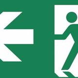 Zemper Diana Flat pictogramme sortie de secours à gauche