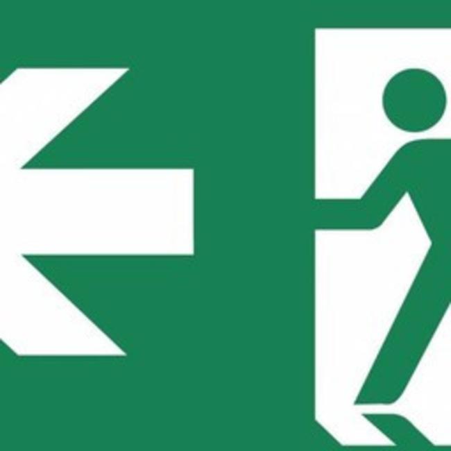 Zemper Zemper Diana Flat pictogramme sortie de secours à gauche