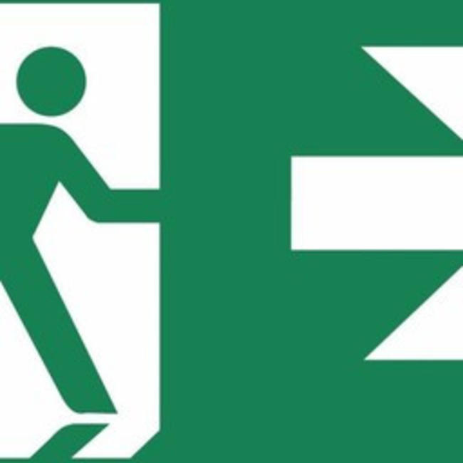 Zemper Zemper Diana Flat pictogramme sortie de secours à droite