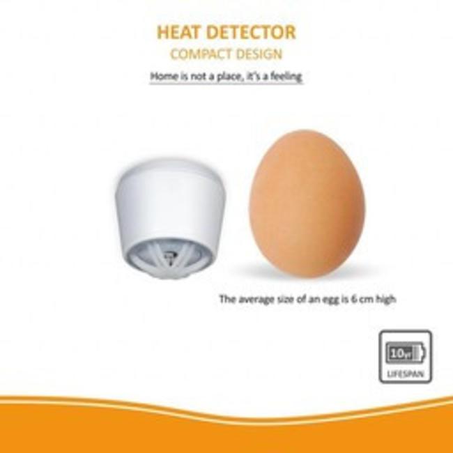 Elro Détecteur de chaleur Elro FH721011  design compact avec pile 10 ans