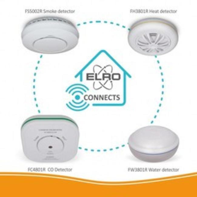Elro Détecteur CO Elro FC4801R Connects connectable sans fil