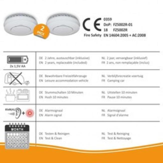 Elro Détecteurs de fumée Elro FZ500221R Connects connectables sans fil