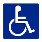 Pictogramme indication toilettes personnes handicapées