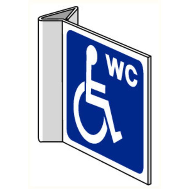 Pikt-o-Norm Pictogramme indication toilettes personnes handicapées