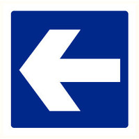 Pikt-o-Norm Pictogramme flèche bleu