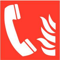 Pikt-o-Norm Pictogramme de sécurité téléphone d'incendie