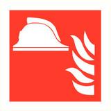 Pictogramme de sécurité casque de pompier