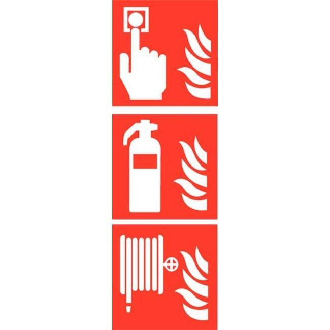 Pikt-o-Norm Pictogramme de sécurité combi détecteur extincteur dévidoir