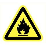 Pictogramme de sécurité danger substances inflammable