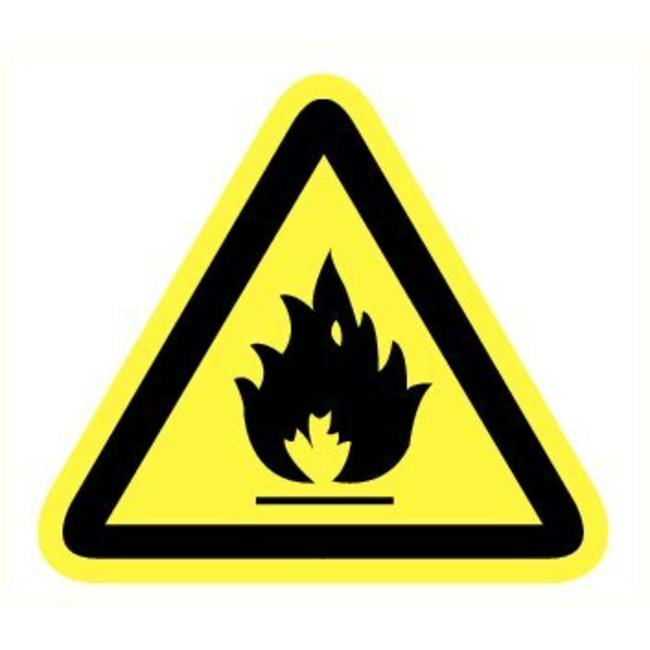 Pikt-o-Norm Pictogramme de sécurité danger substances inflammable