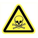 Pictogramme de sécurité danger substance toxique