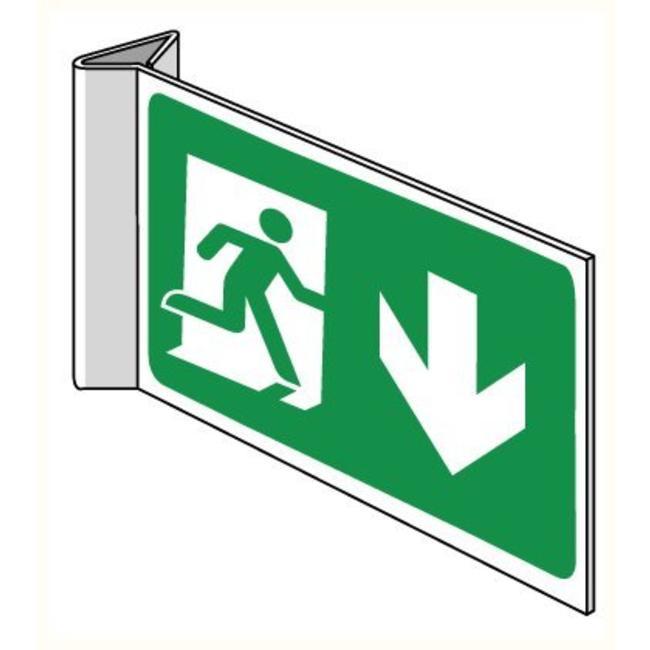Pikt-o-Norm Pictogramme de sécurité sortie de secours en bas