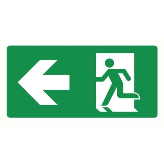 Pikt-o-Norm Pictogramme de sécurité sortie de secours gauche