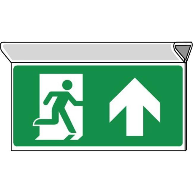 Pikt-o-Norm Pictogramme de sécurité sortie de secours tout droit