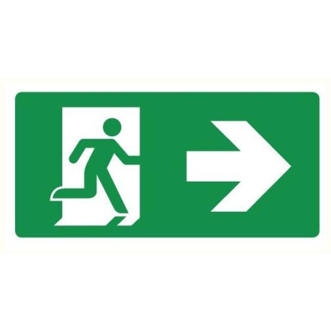 Pikt-o-Norm Pictogramme de sécurité sortie de secours droite