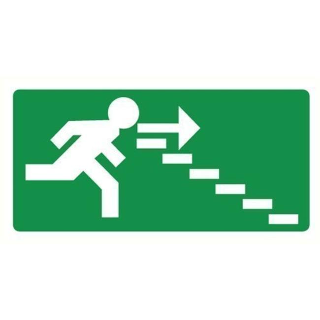 Pikt-o-Norm Pictogramme de sécurité sortie de secours droite escaliers