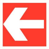Pictogramme de sécurité flèche rouge
