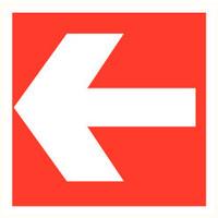 Pikt-o-Norm Pictogramme de sécurité flèche rouge