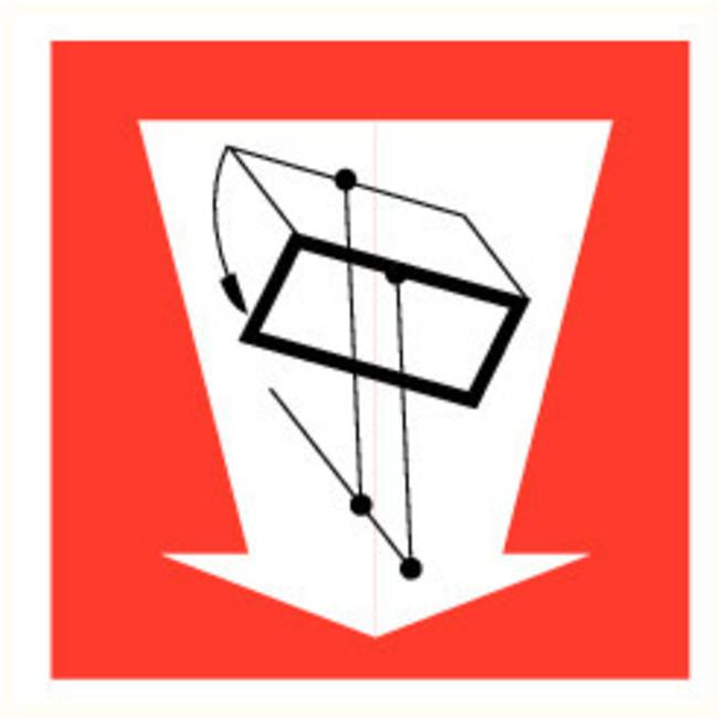 Pikt-o-Norm Pictogramme de sécurité trappe de désenfumage