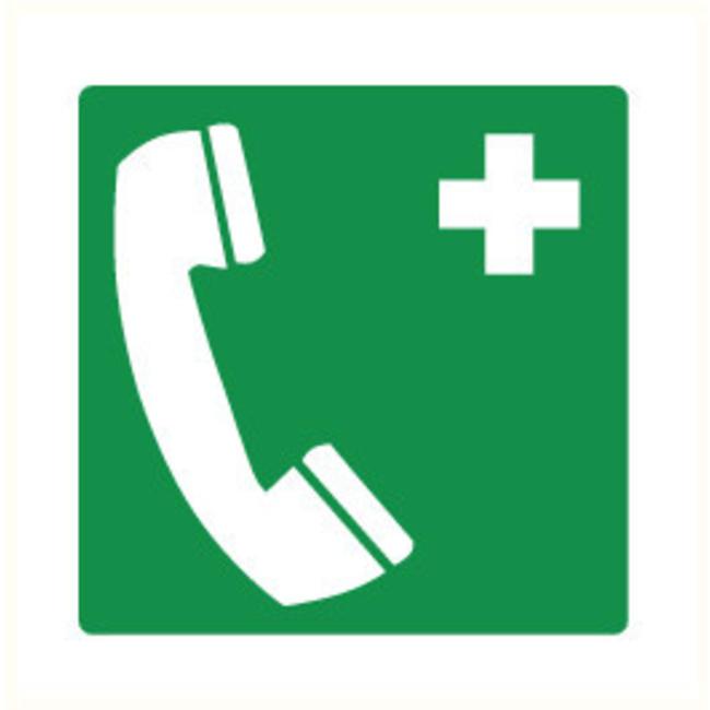 Pikt-o-Norm Pictogramme de sécurité téléphone premiers soins