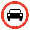 Pikt-o-Norm Pictogramme de sécurité Interdiction voiture
