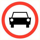 Pictogramme de sécurité Interdiction voiture