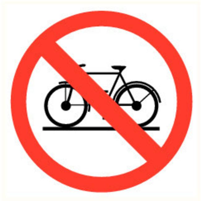 Pikt-o-Norm Pictogramme de sécurité accès interdit aux vélos
