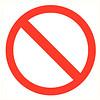 Pikt-o-Norm Pictogramme de sécurité accès interdit