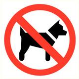 Pictogramme de sécurité accès interdit aux animaux