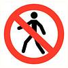 Pikt-o-Norm Pictogramme de sécurité accès interdit aux personnnes