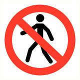 Pictogramme de sécurité accès interdit aux personnnes
