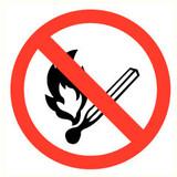 Pictogramme de sécurité feu interdit