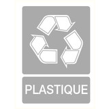 Pictogramme recyclage en plastique