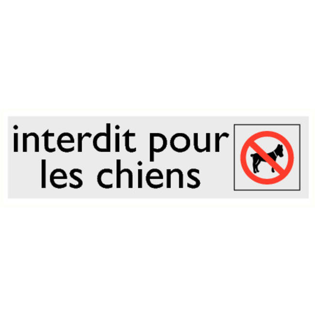 Pikt-o-Norm Pictogramme texte chiens interdits