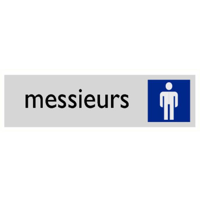 Pikt-o-Norm Pictogramme texte toilettes hommes