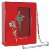 Boîte à clés en métal avec façade en verre fragile