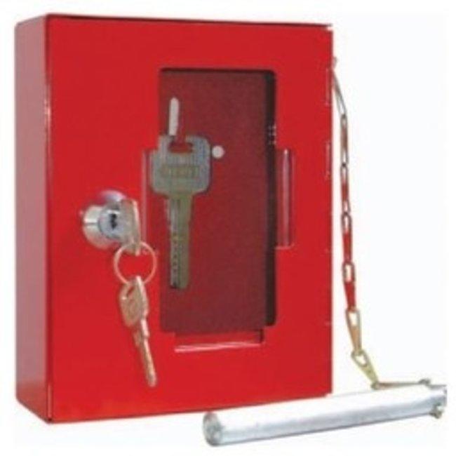 Protectionincendieshop Boîte à clés en métal avec façade en verre fragile