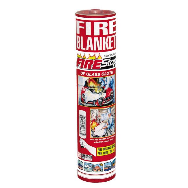 Protectionincendieshop Couverture anti-feu 1,8m x 1,8m en tube approuvé conforme EN 1869 et Marine